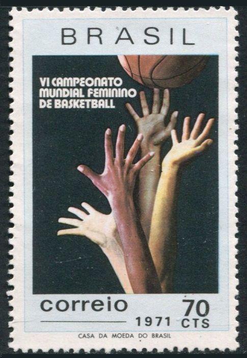 Brazil-1188-MNH-Michel-1282-World-Women-039-s-Basketball-Championship-1971
